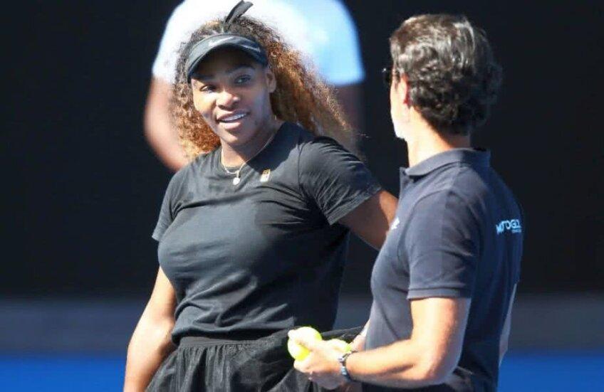 Serena Williams și Patrick Mouratoglou FOTO: Guliver/GettyImages