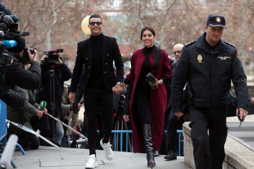 Cristiano Ronaldo și Georgina Rodriguez  la tribunal în Madrid // FOTO: Reuters