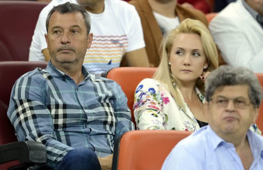 Mircea Rednic și Luana Rednic la un meci pe Arena Națională