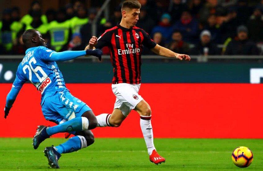 Krzysztof Piatek a fost decisiv în meciul AC Milan - Napoli 2-0 // FOTO: Guliver/Getty Images