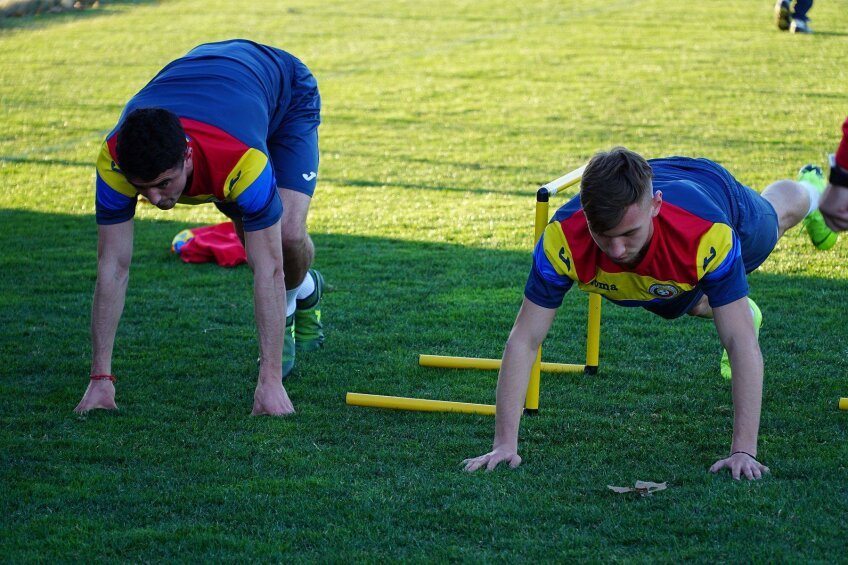 România U21, antrenament