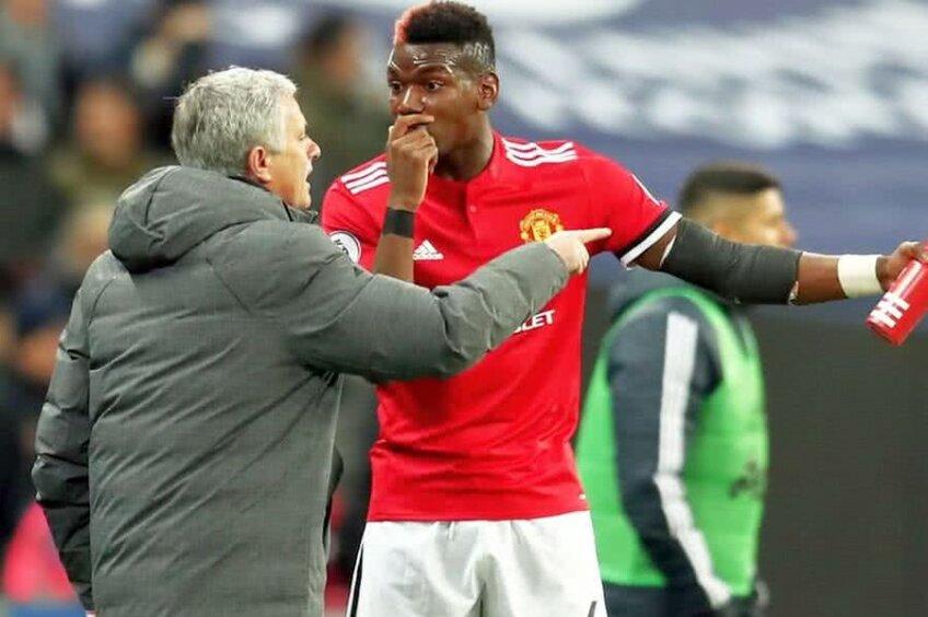 Jose Mourinho și Paul Pogba // FOTO: Guliver/Getty Images