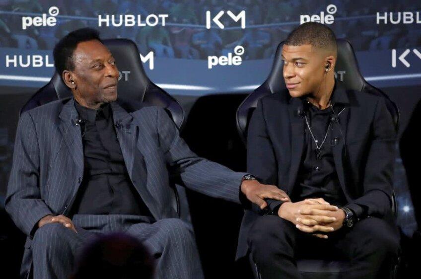 Pele și Kylian Mbappe