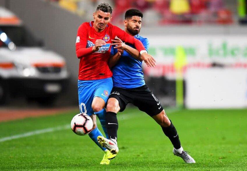 Benzar are 43 de meciuri și un gol pentru FCSB în campionat / FOTO Raed Krishan
