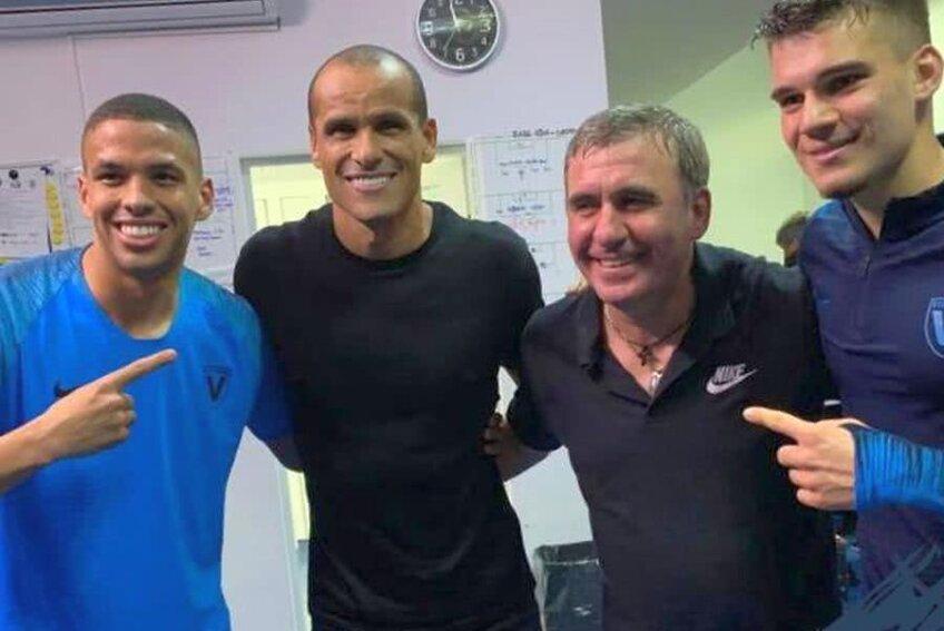 Rivaldinho, Rivaldo, Hagi și Ianis / FOTO: Facebook @ AcademiaHagi