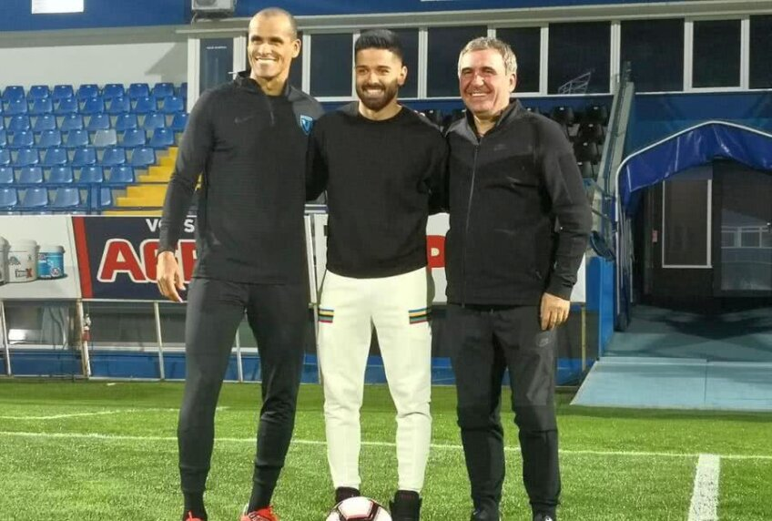 Rivaldo, Ionuț Vînă și Gică Hagi. Foto: instagram.com/vinaionut11