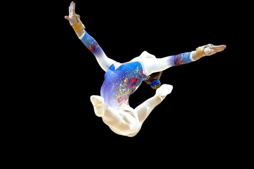 Denisa Golgotă evoluând la sol // FOTO: Guliver/Getty Images