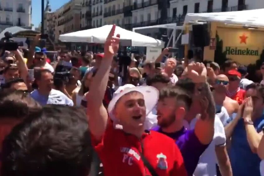 Fanii lui Tottenham și cei ai lui Liverpool s-au distrat pe străzile din capitala Spaniei