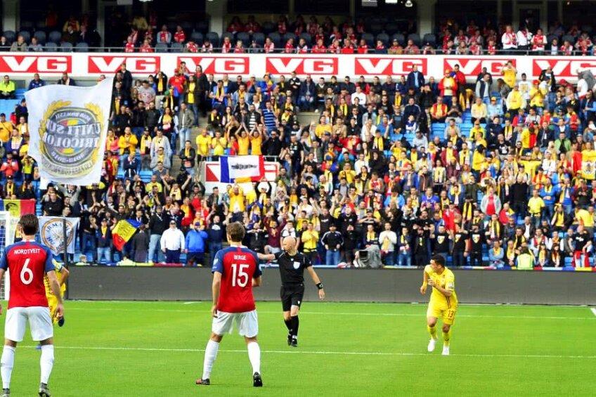 România a fost susținută la Oslo de aproximativ 800 de fani // FOTO: Cristi Preda