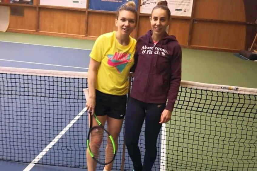 Simona Halep și Mihaela Buzărnescu sunt colege de echipă  la Fed Cup