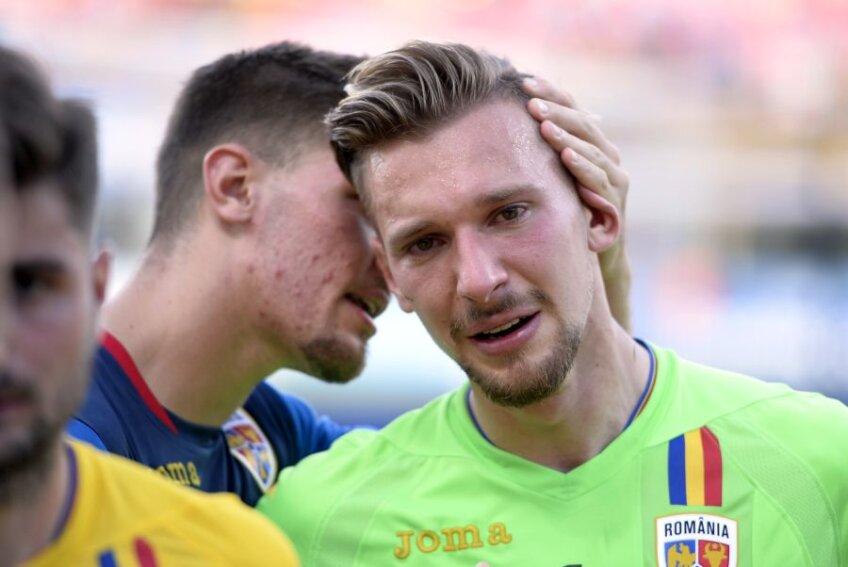 Ionuț Radu și lacrimile de la finalul meciului cu Germania U21, 2-4