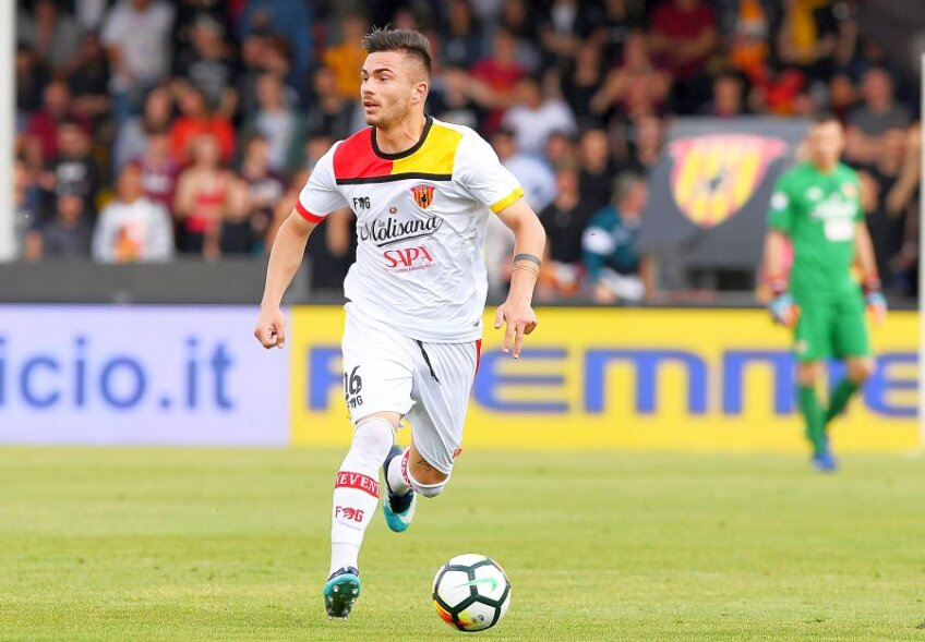 Alin Toșca în tricoul lui Benevento în Serie A // Foto: Guliver/GettyImages