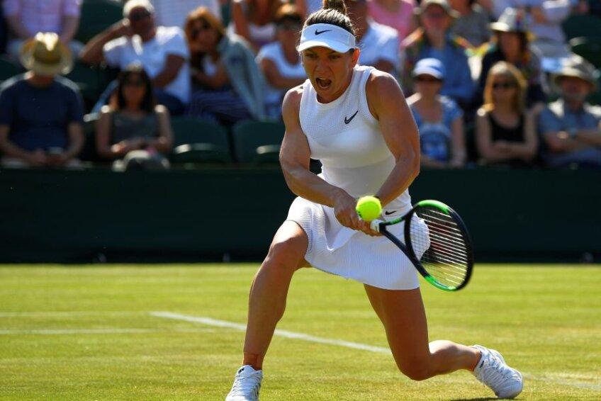 Simona Halep la Wimbledon 2019 // FOTO: Reuters