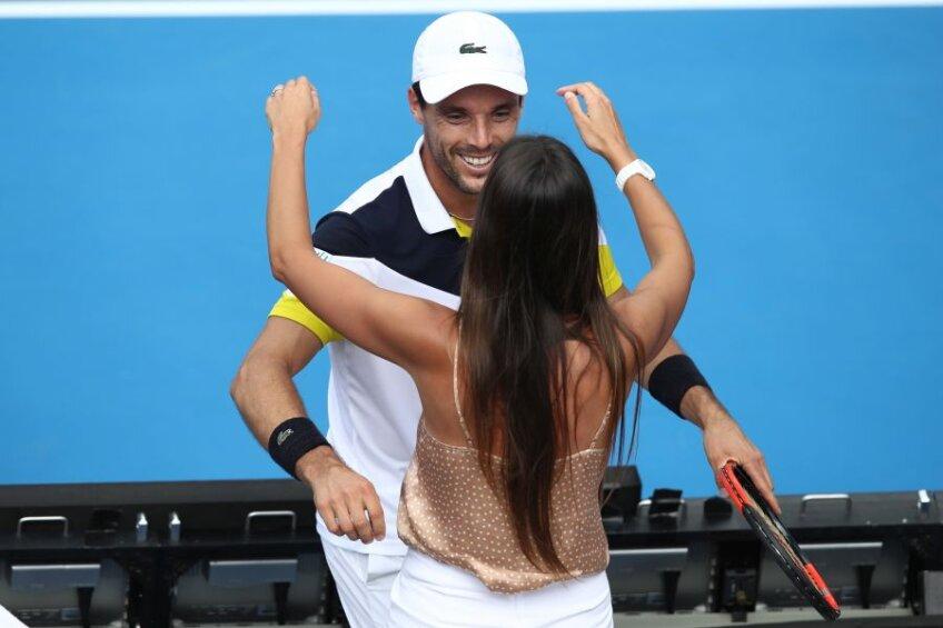 Roberto Bautista Agut și Ana Bodi Tortosa // foto: Guliver/Getty Images