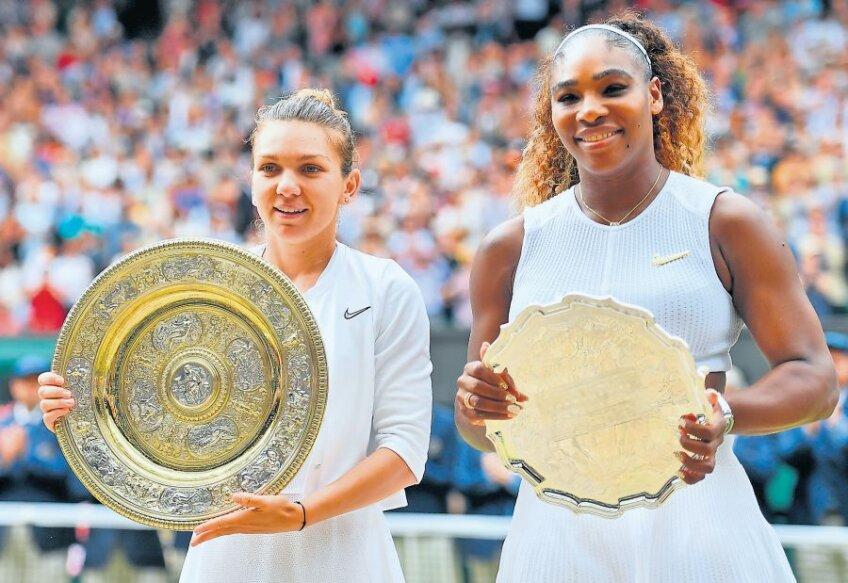 Simona Halep și Serena Williams la festivitatea de premiere de sâmbătă FOTO Raed Krishan (Londra)