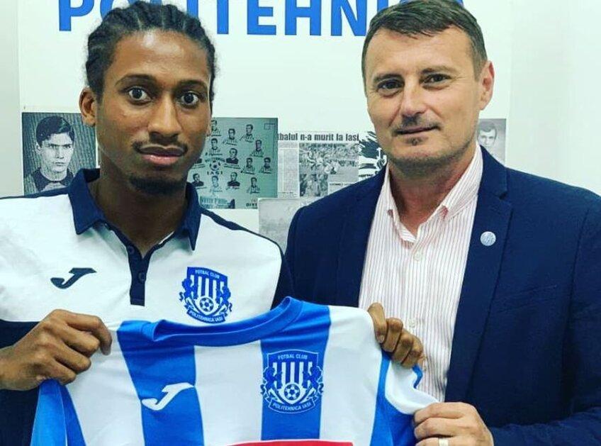 FOTO: Facebook FC Politehnica Iași // Rodny Lopes Cabral prezentat oficial la Iași