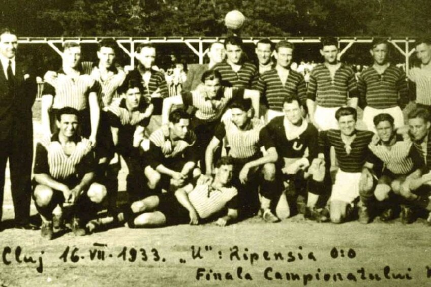 Ripensia, echipa campioană în 1933 // Foto: ripensiatimisoara.ro
