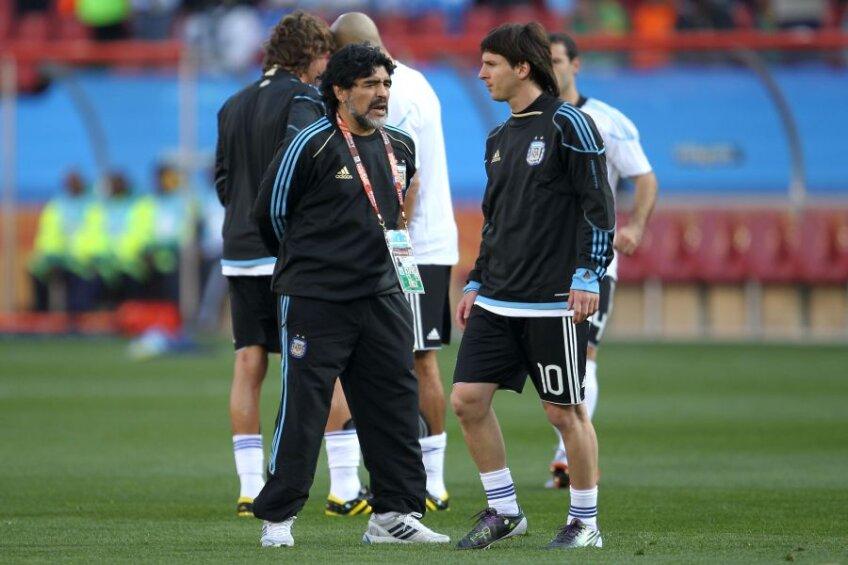 Diego Maradona și Lionel Messi (foto: Guliver/Getty Images)