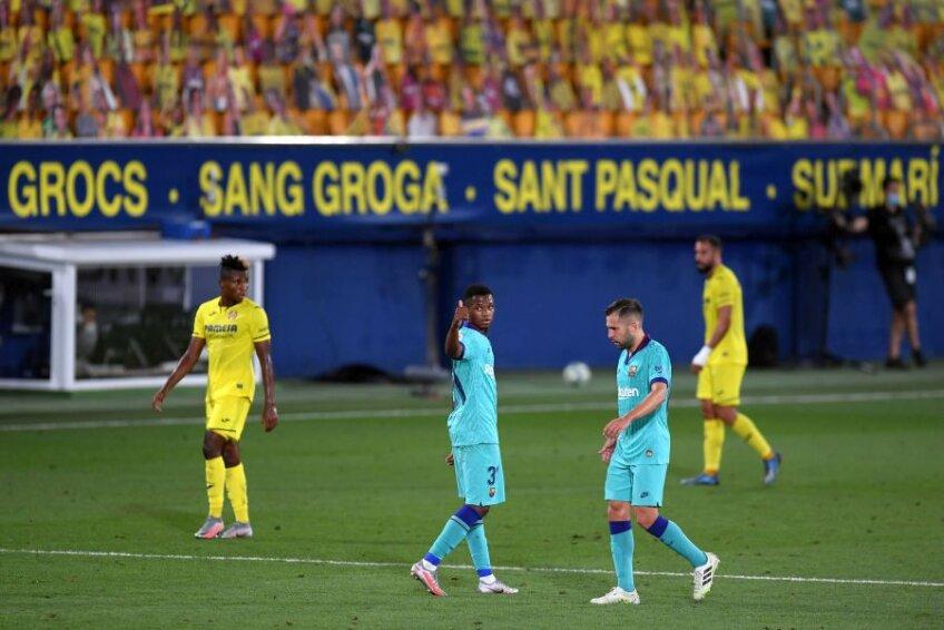 Ansu Fati (centru) a marcat golul patru al Barcelonei contra lui Villarreal // foto: Guliver/gettyimages