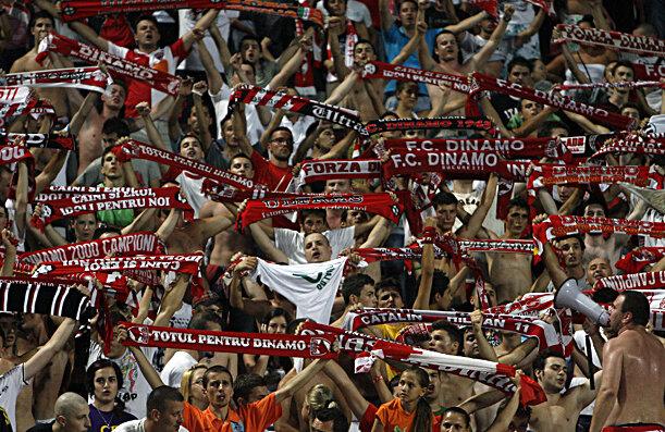 Dinamoviştii vor fi susţinuţi de aproximativ 4.000 de fani la meciul din deplasare, cu U Cluj, de la Mediaş