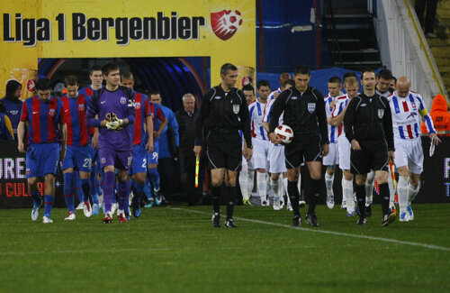 Atît Oţelul, cît şi Steaua, două dintre protagonistele campionatului, practică un fotbal precaut