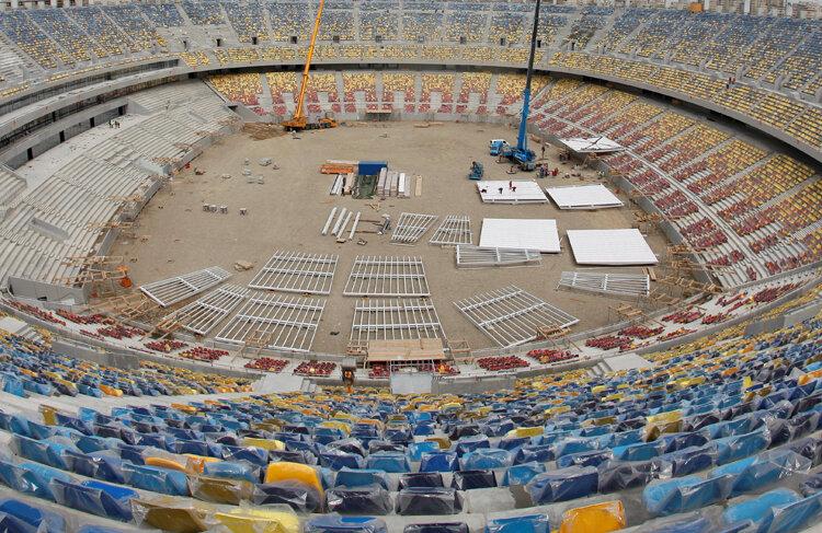 Cartierul unde este amplasat National Arena este unul dominat de fanii dinamoviști