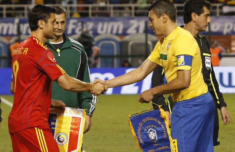 Ciprian Marica a purtat banderola de căpitan în meciul cu Brazilia