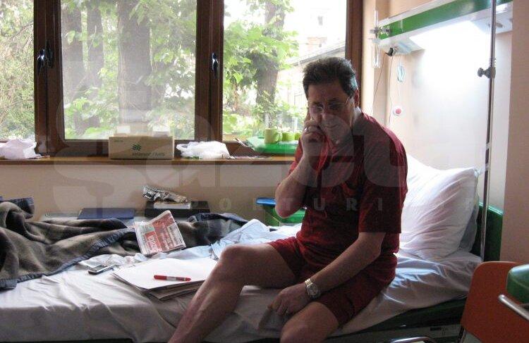 Cornel Dinu a mai fost internat în urmă cu aproximativ două luni, diagnosticul fiind la vremea aceea oboseală cronică
