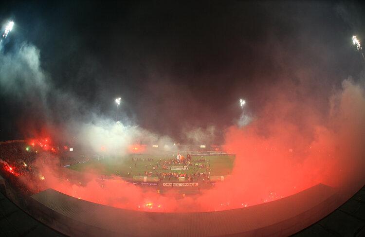 Torţele au fost motivul pentru care stadionul din