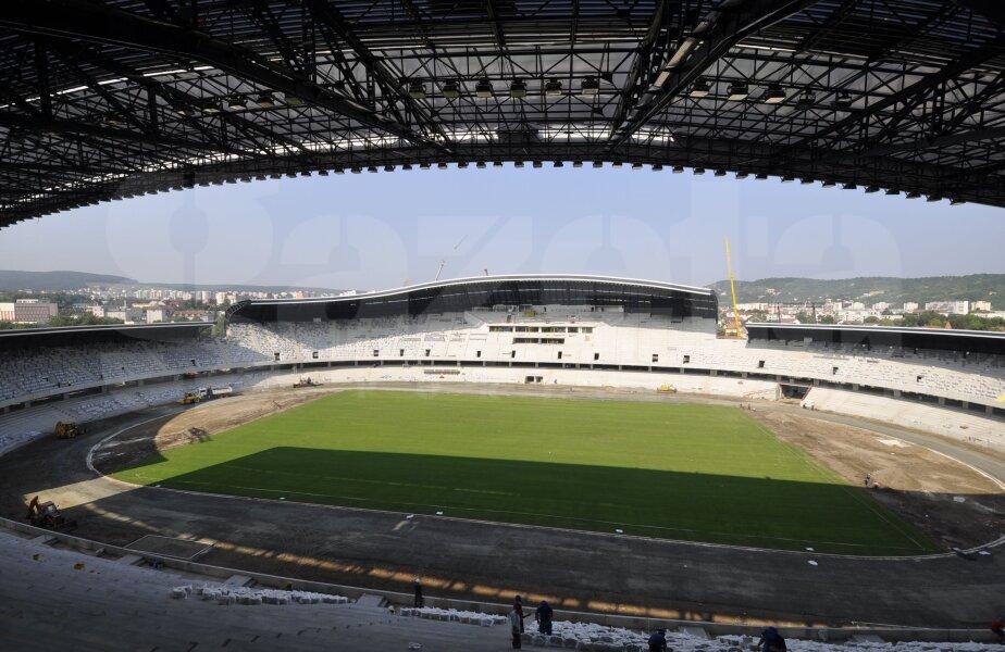 Lucările la Cluj Arena sînt pe ultima sută de metri