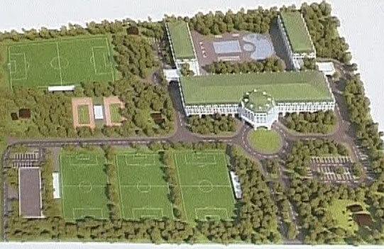 Aşa arată planul construcţiilor prezentat de Becali Foto: Realitatea TV