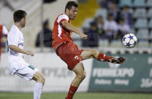 Marius Niculae a marcat golul de 1-1. Foto: Alex Nicodim