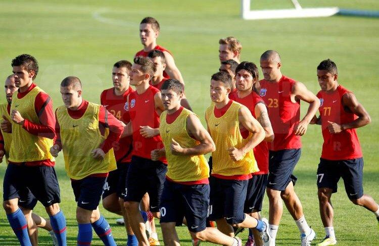 Steaua a efectuat antrenamentul oficial înaintea returului cu ŢSKA Sofia
