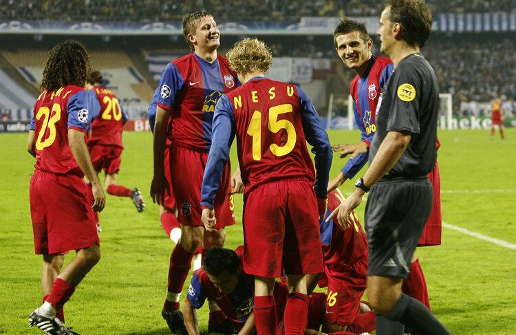 Steaua a debutat în forţă în 2006, la Kiev, 4-1 cu Dinamo