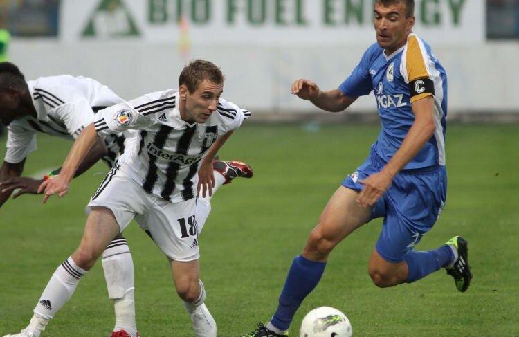 Proaspătul internaţional Strătilă a marcat ieri primul său gol din acest campionat Foto Mediafax