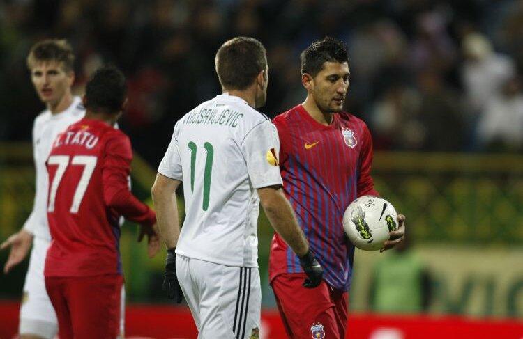 Penalty-ul ratat de Costea a fost al 3-lea irosit de Steaua în acest campionat, după cele ale lui Tănase (cu Mioveni) şi Brandan (cu Tg. Mureş). FOTO Alex Nicodim