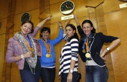 Ana Maria Brînză, Anca Măroiu, Simona Alexandru şi Loredana Dinu își doresc să cîștige și titlul olimpic la Londra foto: Raed Krishan
