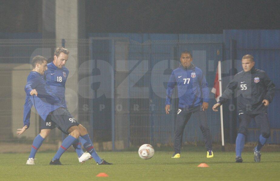 Steliştii s-au antrenat la Berceni înaintea meciului cu Maccabi