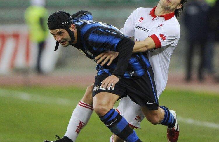 Nimeni de la Inter nu i-a putut reproșa vreodată lui Cristi Chivu că nu luptă pentru culorile nerazzurre. FOTO Reuters