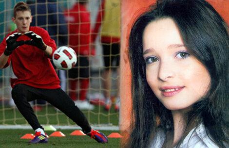 Andrei Radu şi sora lui.