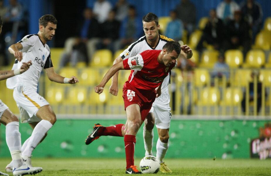 Jucătorii Gazului s-au făcut de rîs în partida tur, pierdută cu 0-5