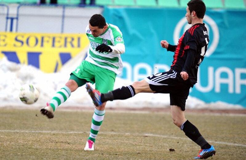 Romulus Miclea a marcat unicul gol al meciului Voinţa - Astra, 1-0