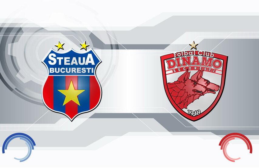 Cu 50.000 de spectatori Steaua şi Dinamo îşi propun un spectacol pentru fani // Fotomontaj: Adi Drăgan