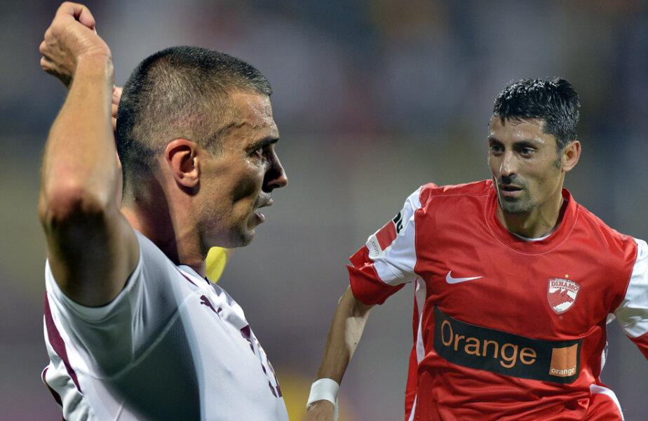 Pancu şi Dănciulescu, doi jucători de bază pentru Rapid şi Dinamo