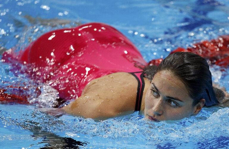 Splendoare în bazin. Înotătoarea maghiară Zsuzsanna Jakabos, cea mai sexy imagine a Olimpiadei // Foto: Reuters