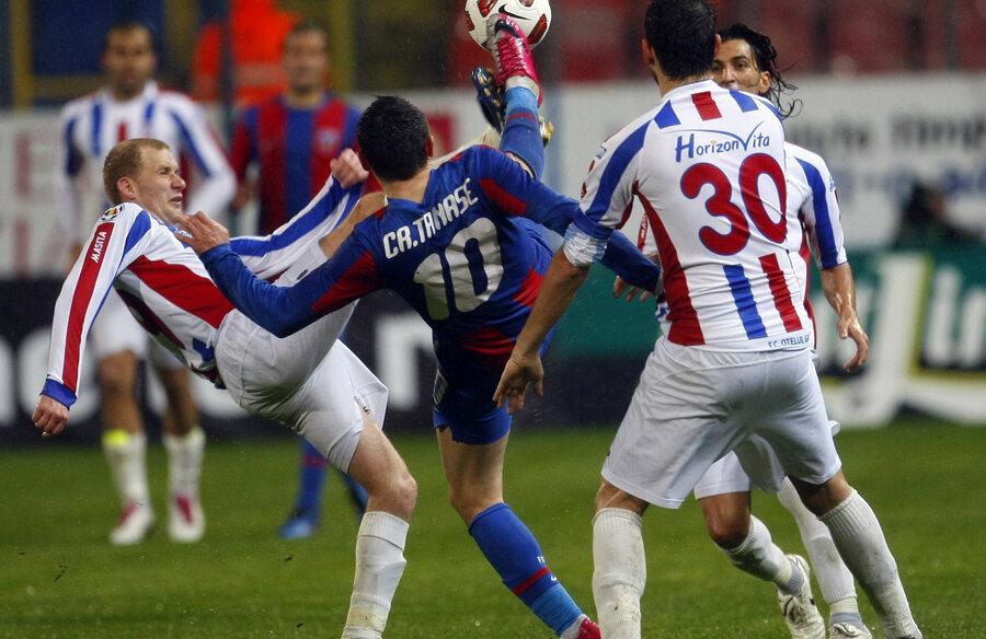 Campionatul trecut, Steaua a bătut de două ori Galaţiul, un dublu 2-1