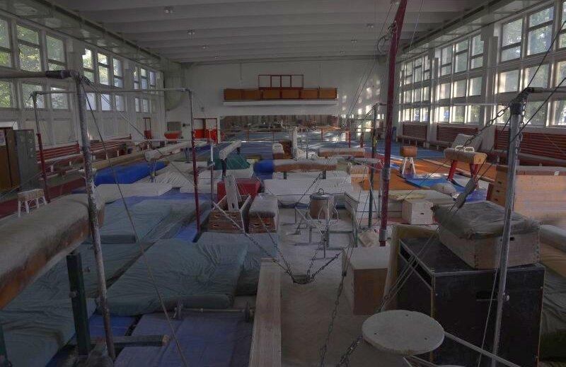 Așa arată în prezent sala de gimnastică din cadrul CS Dinamo FOTO: Cristi Preda