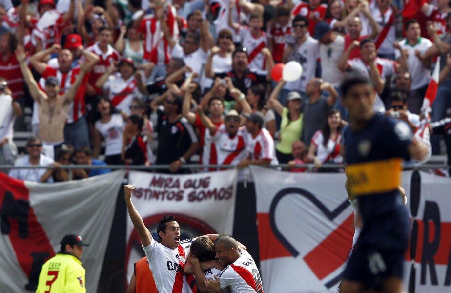 Jucătorii lui River sărbătorind golul lui Ponzio (foto Reuters)