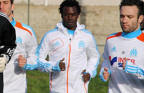 Modou Sougou la antrenamentul lui OM. sursă foto: om.net