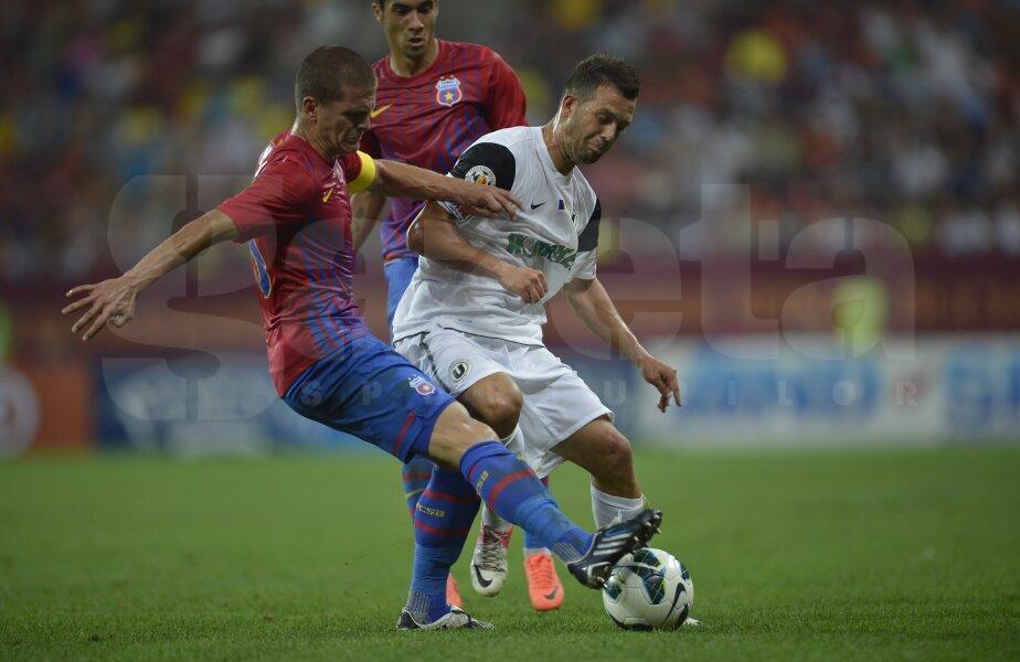 În tur, Steaua a învins U Cluj cu 5-1